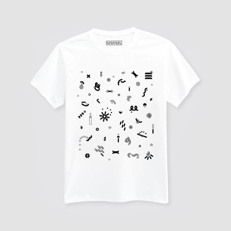 MAMAMA bílé tričko spotiskem