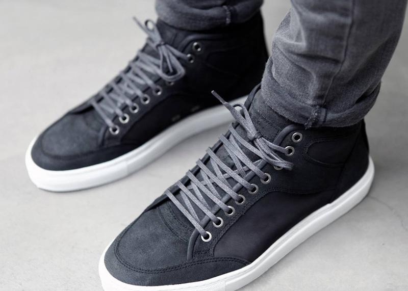 ETQ Amsterdam kotníkové luxusní boty šedé