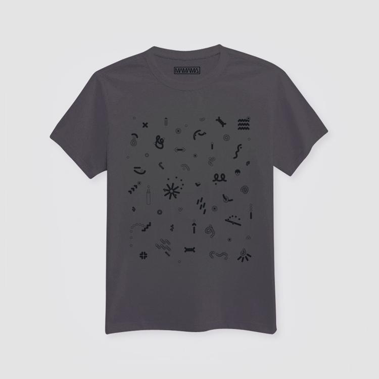 MAMAMA šedé tričko spotiskem