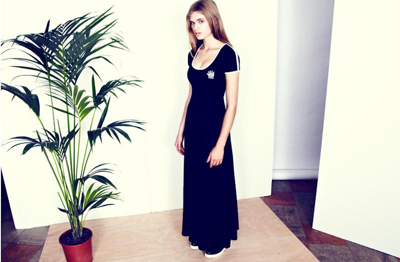 Lazy Oaf černé dlouhé šaty