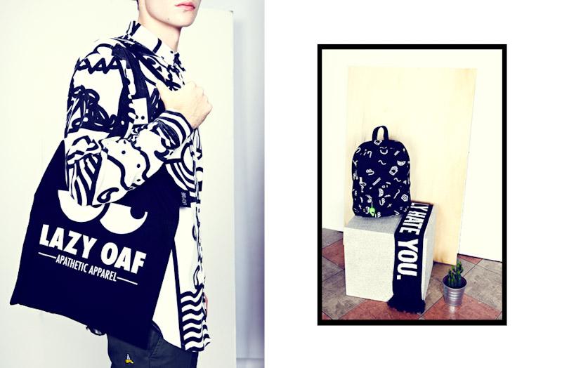 Lazy Oaf košile se vzorem, taška, batoh