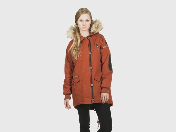 Nikita dámská červená zimní bunda, parka Acorn
