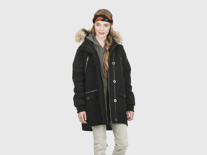 Nikita dámská černá zimní bunda, parka Acorn