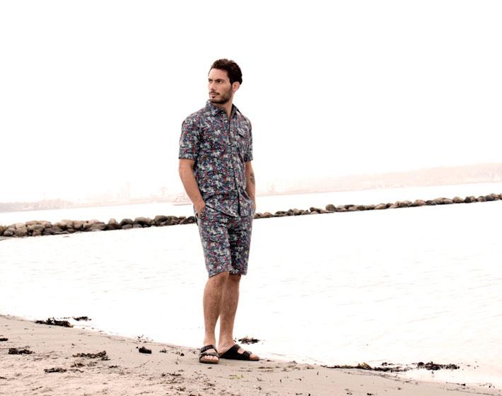 Anerkjendt – pánské šortky akošile se vzorem