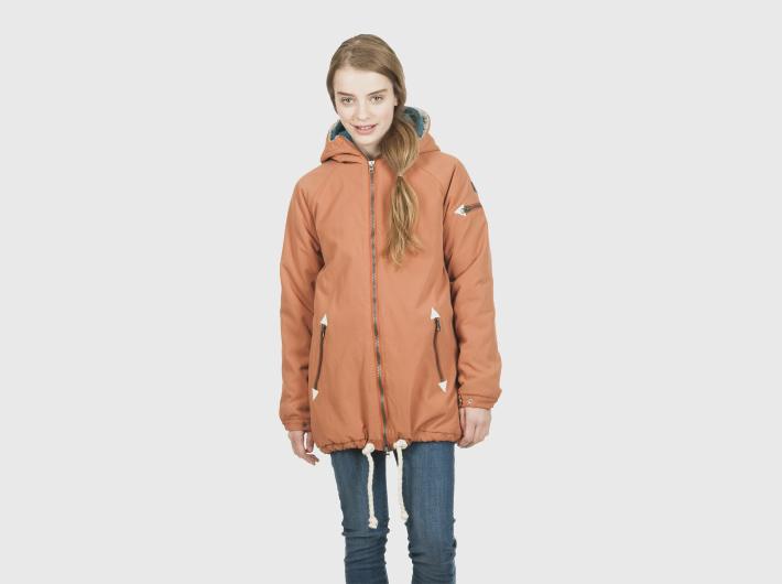 Nikita dámská bledě oranžová zimní parka, bunda Alphubel