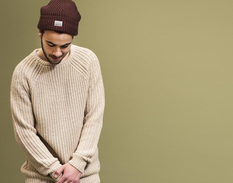 RVLT/Revolution – pletený svetr, pánský, krémový