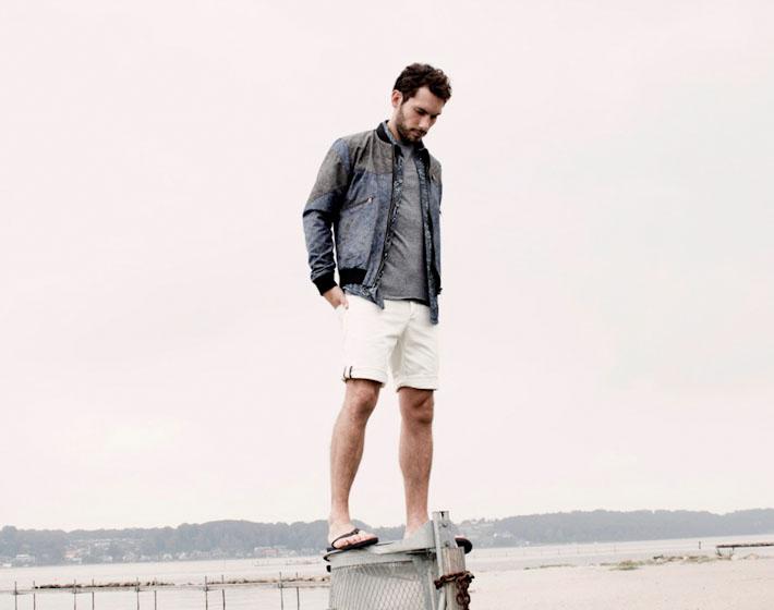 Anerkjendt – pánská jarní bunda, bílé šortky