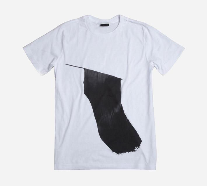 Ghostly International bílé tričko spotiskem