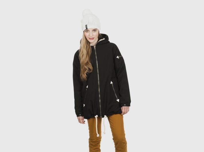 Nikita dámská černá zimní parka, bunda Alphubel