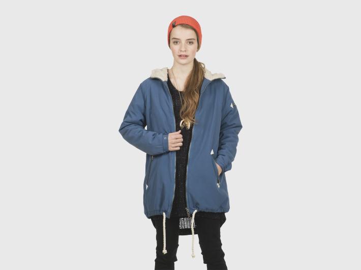 Nikita dámská modrá oranžová zimní parka, bunda Alphubel