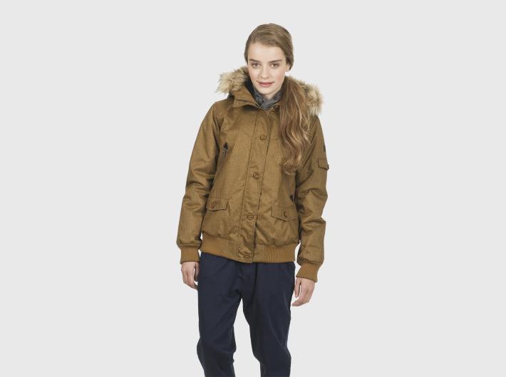 Nikita dámská hořčicová zimní bunda Anvil