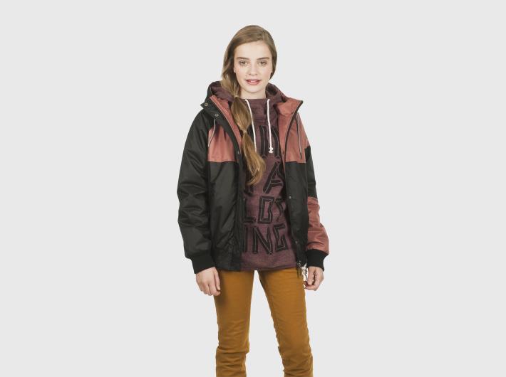Nikita dámská černo-červená zimní bunda Aparat