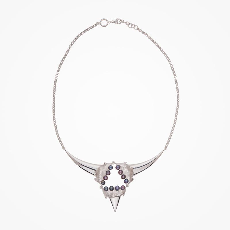 Antipearle – stříbrný náhrdelník, říční perly