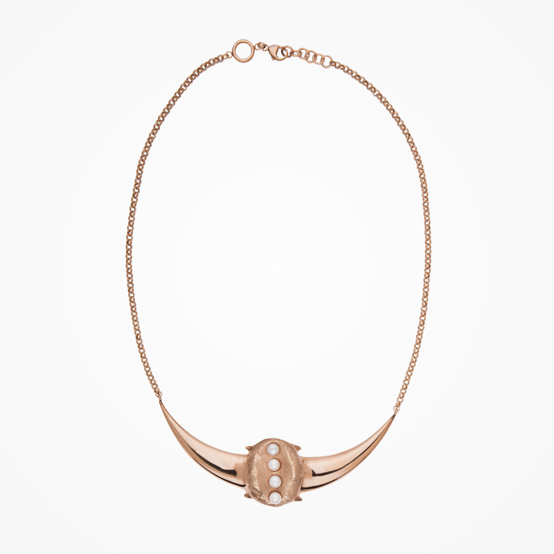 Antipearle – zlacený stříbrný náhrdelník sperlami