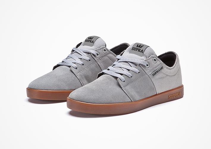 Boty Supra Stacks II – šedé, semišové, textilní