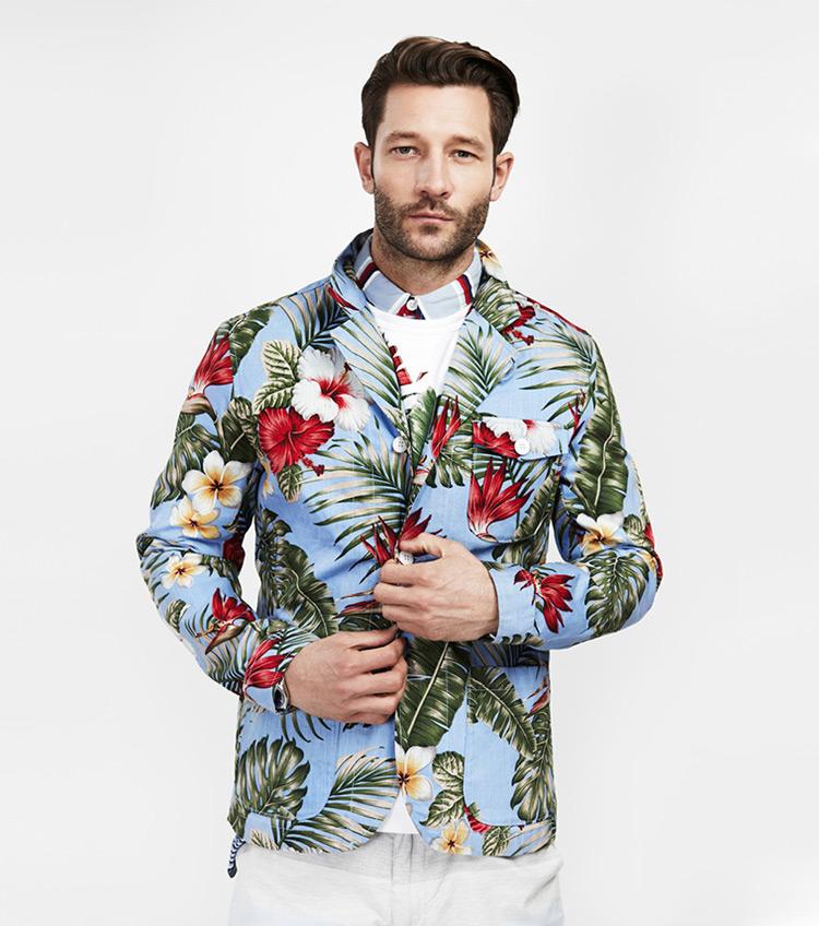 Penfield – pánská móda – květinová košile, dlouhý rukáv