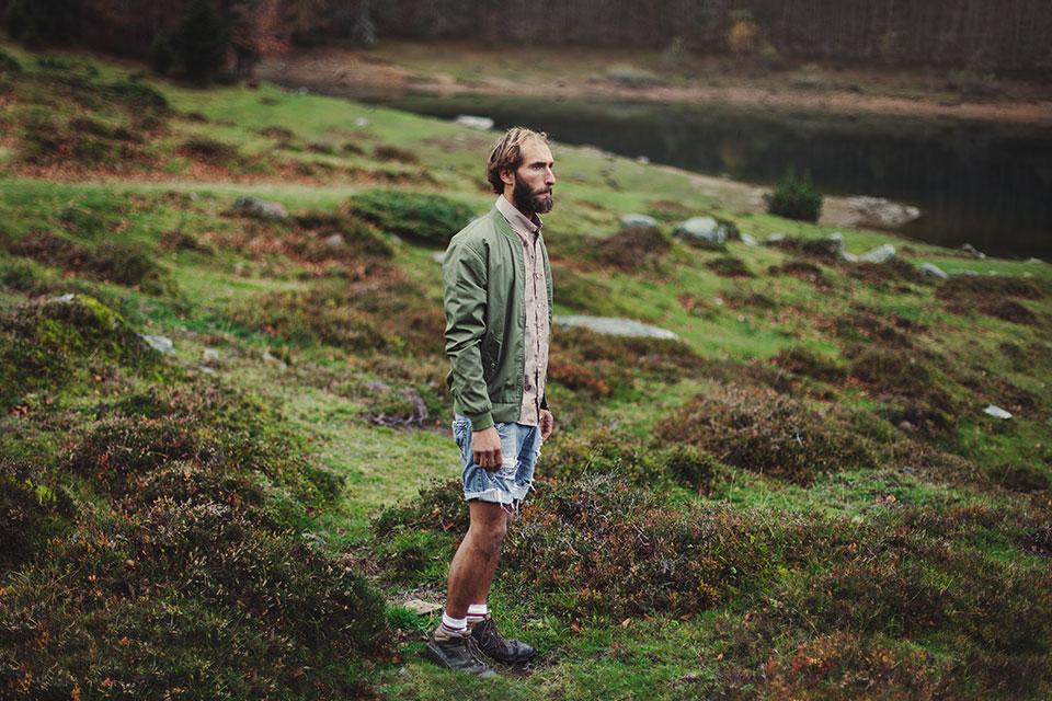 Olow – francouzská móda zelená pánská bunda, košile