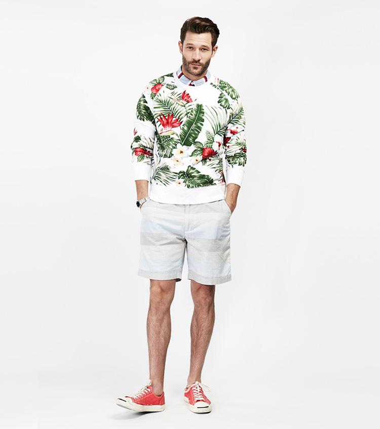 Penfield – pánská móda – květinová mikina, šortky