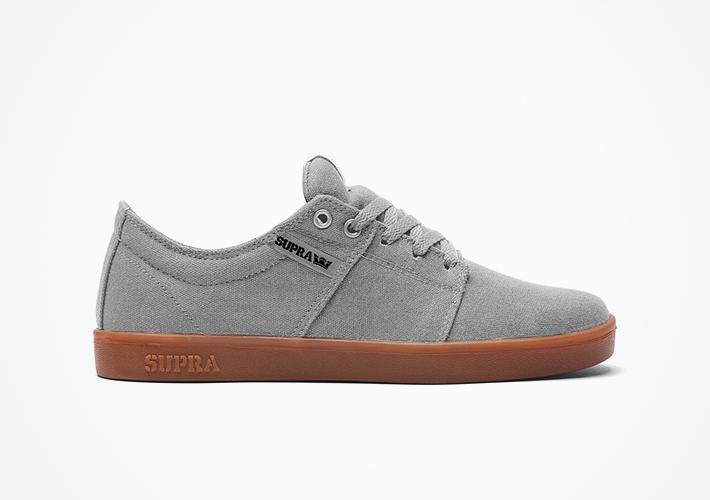 Šedé boty Supra Stacks II – semišové, textilní