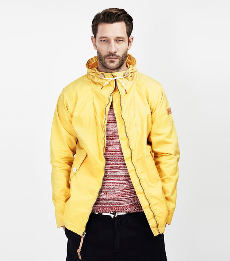 Penfield – pánská móda – žlutá jarní aletní bunda skapucí