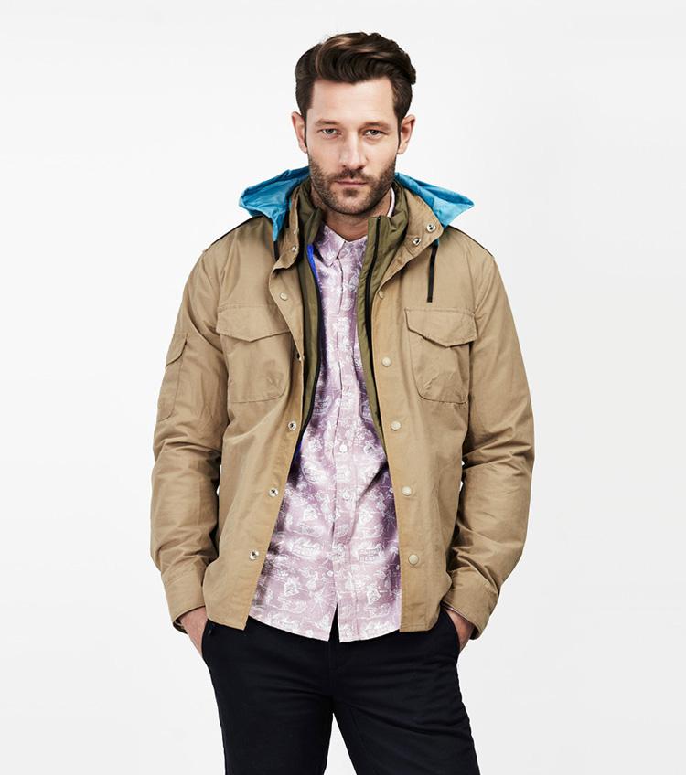 Penfield – pánská móda – béžová bunda skapucí