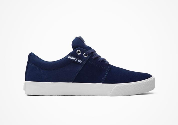 Modré boty Supra Stacks II – semišové, textilní