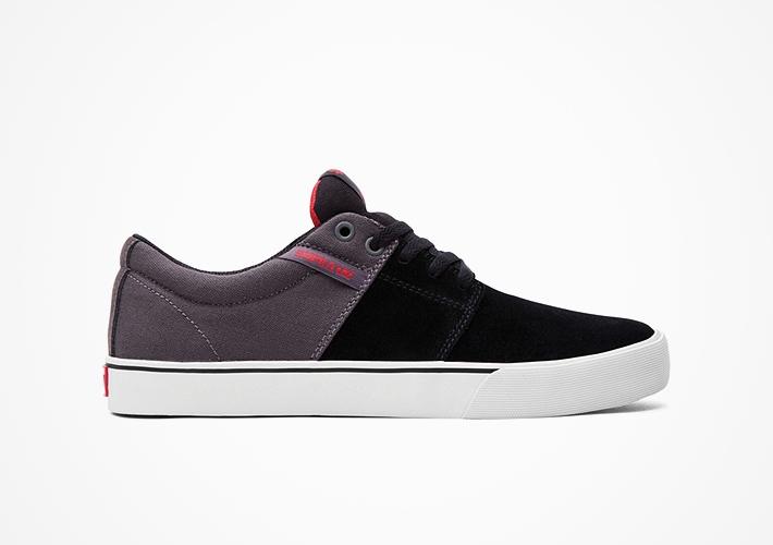 Černo-šedé boty Supra Stacks II – semišové, textilní