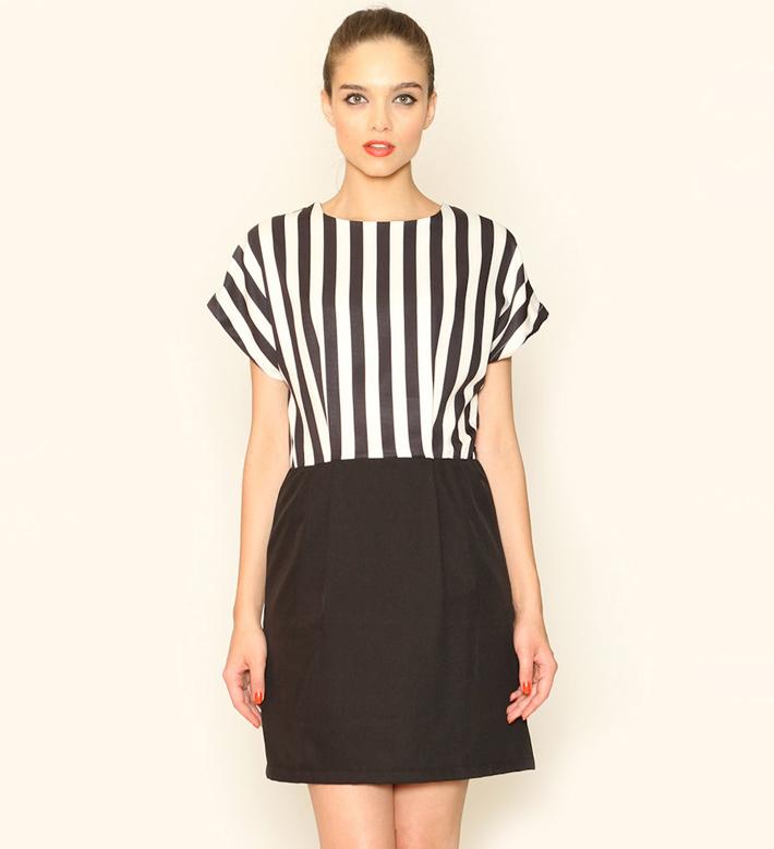Pepa Loves – dámské oblečení – letní šaty, černobílé, proužkované