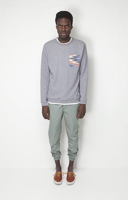 Ucon Acrobatics – pánské oblečení – šedá mikina skapsičkou, kalhoty