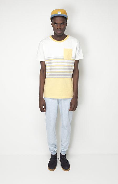Ucon Acrobatics – pánské oblečení – žluto-bílé tričko, kalhoty