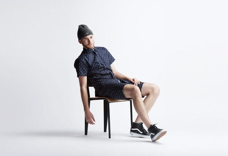 Publish – pánské oblečení – puntíkovaná košile, šortky
