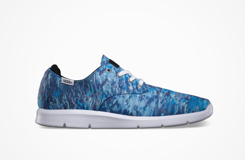 Boty Vans Mili Stripe Prelow – modré se vzorem, 2014