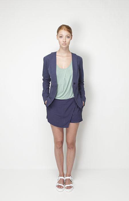 Ucon Acrobatics – dámské oblečení – modré sáčko, modrá sukně