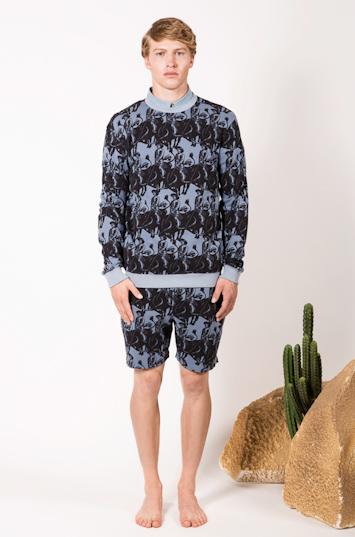 Frisur – pánské oblečení – mikina, šortky se vzorem