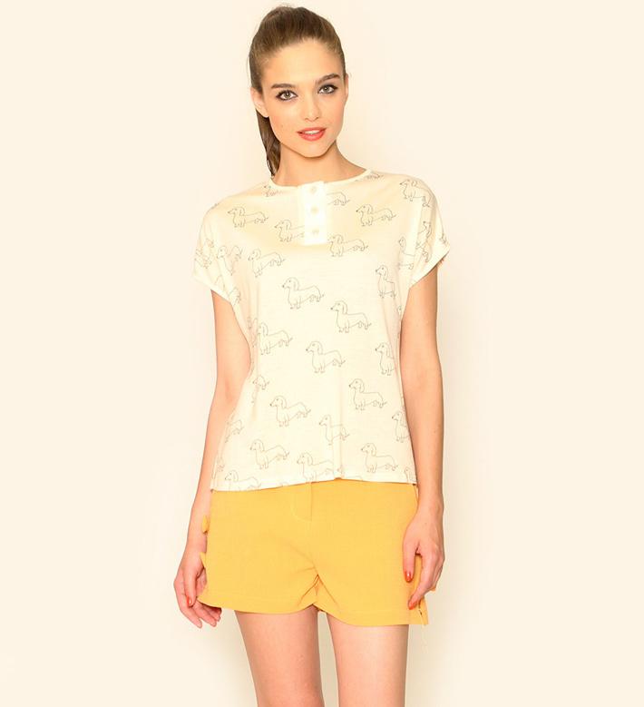 Pepa Loves – dámské oblečení – žluté šortky, top, blůza