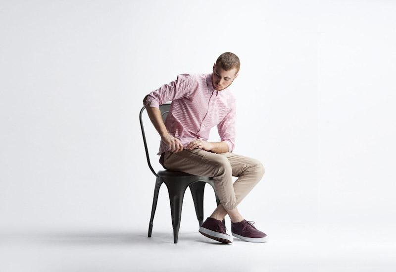Publish – pánské oblečení – proužkovaná košile, khaki kalhoty