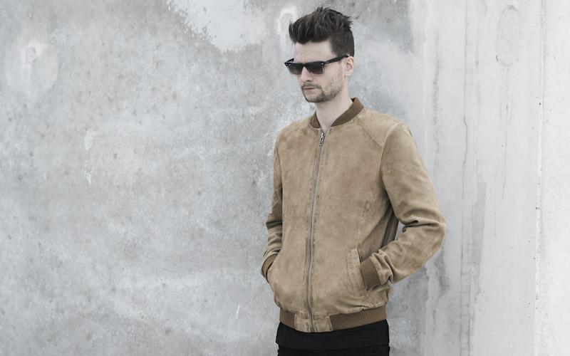RVLT/Revolution – béžová jarní bunda do pasu, pánská