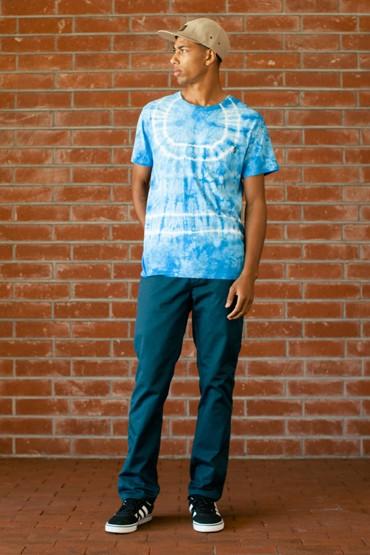 Obey – batikované tričko, modré, kalhoty