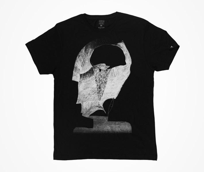 Phenüm — černé tričko spotiskem