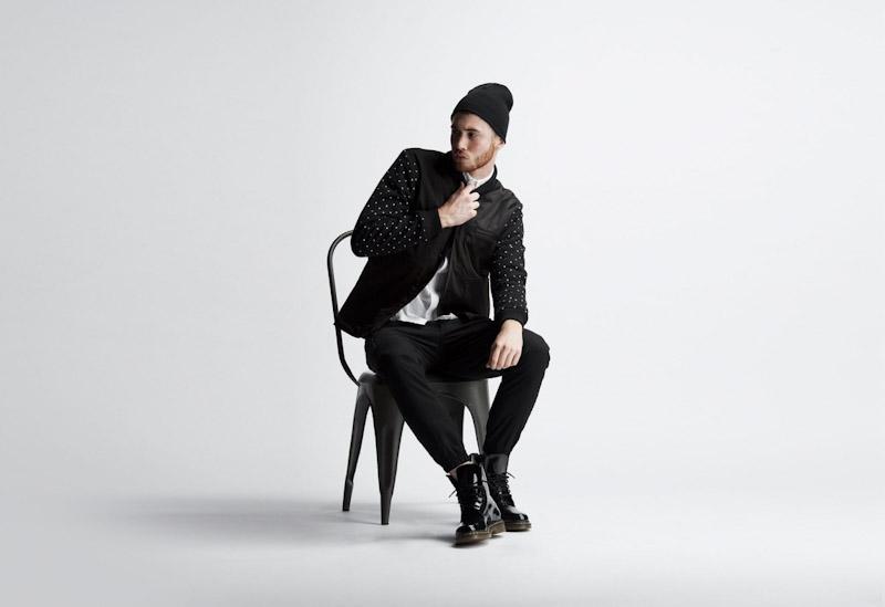 Publish – pánské oblečení – černá jarní bunda, kalhoty