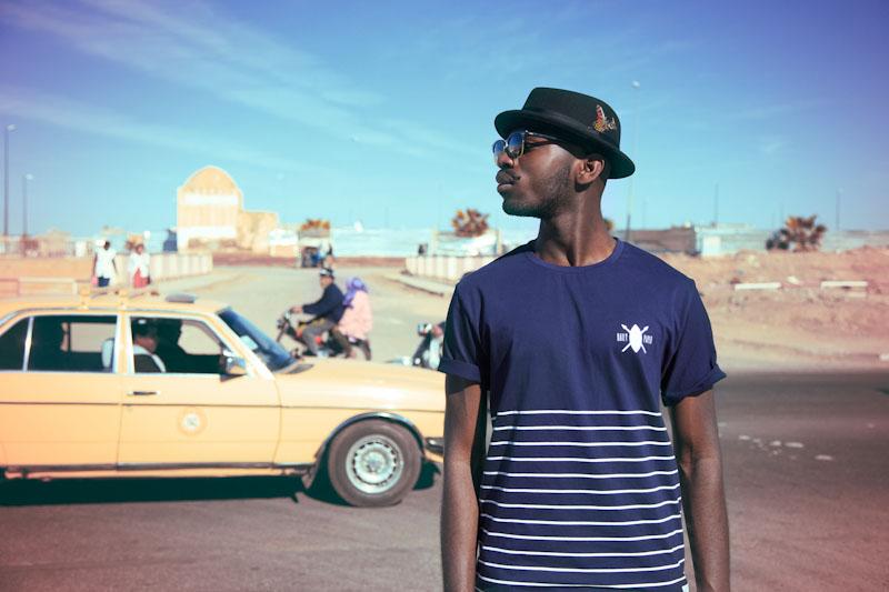 Daily Paper – pánské oblečení – modré tričko sproužky