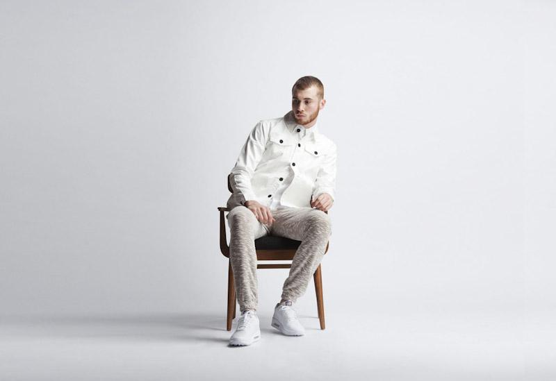 Publish – pánské oblečení – bunda smetanové barvy, kalhoty se vzorem