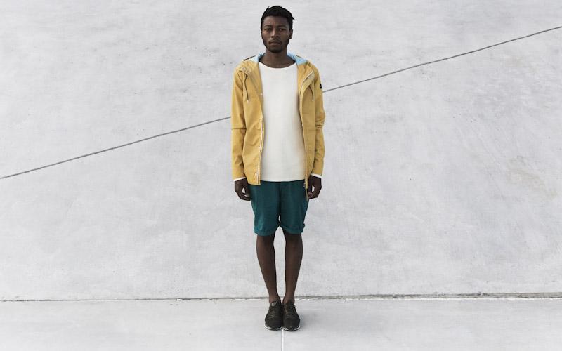 RVLT/Revolution – horčicová jarní bunda, zelené šortky