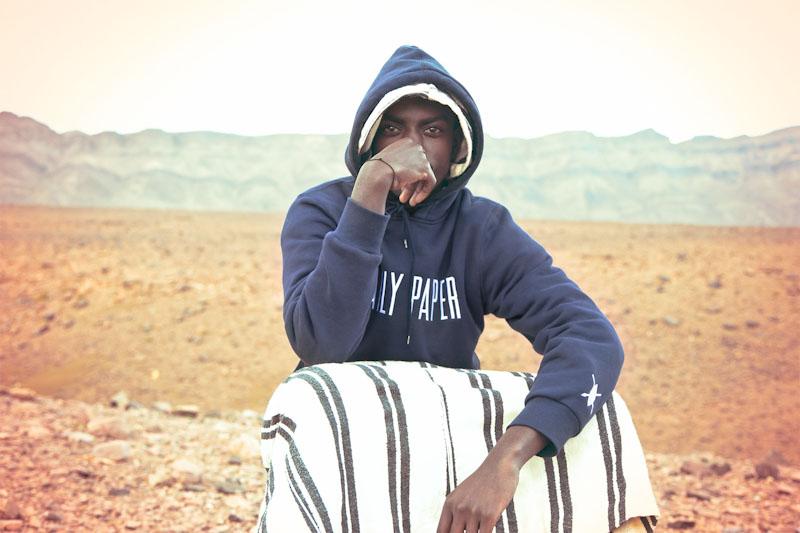 Daily Paper – pánské oblečení – modrá mikina skapucí