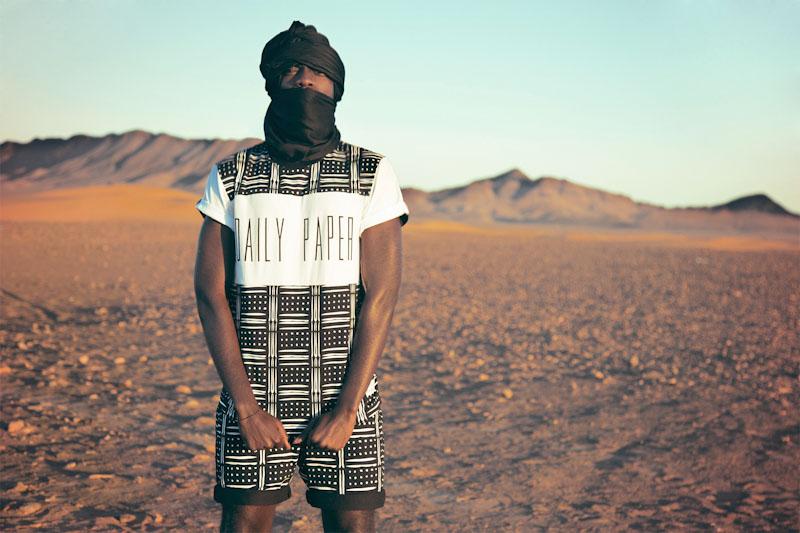Daily Paper – pánské oblečení – černo-bílé triko