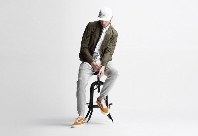 Publish – pánské oblečení – jarní bunda – olivová barva, šedé kalhoty