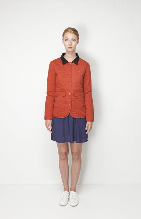 Ucon Acrobatics – dámské oblečení – oranžová bunda, modrá sukně