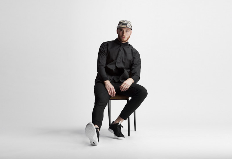 Publish – pánské oblečení – černá košile, černé kalhoty