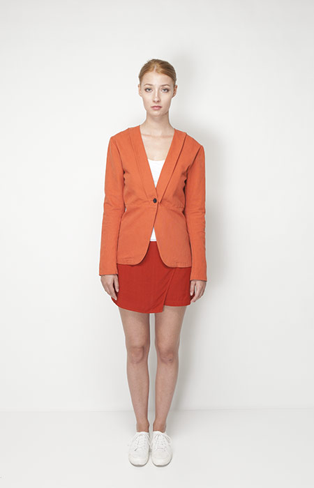 Ucon Acrobatics – dámské oblečení – oranžové sáčko, sako, sukně