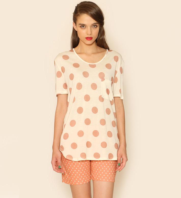 Pepa Loves – dámské oblečení – puntíkované šortky, puntíkované tričko